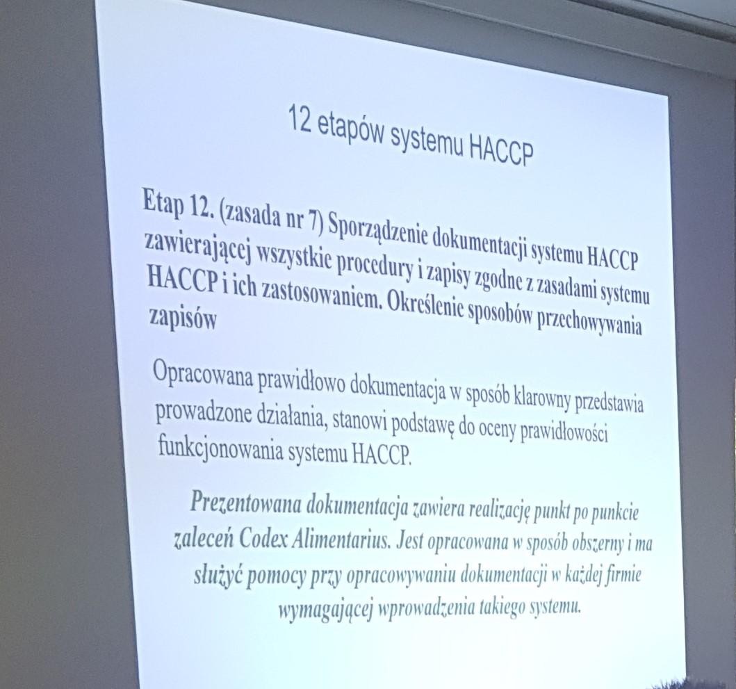 Kurs Certyfikatu HACCP